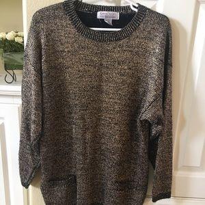 Karen Scott Gold foil sweater